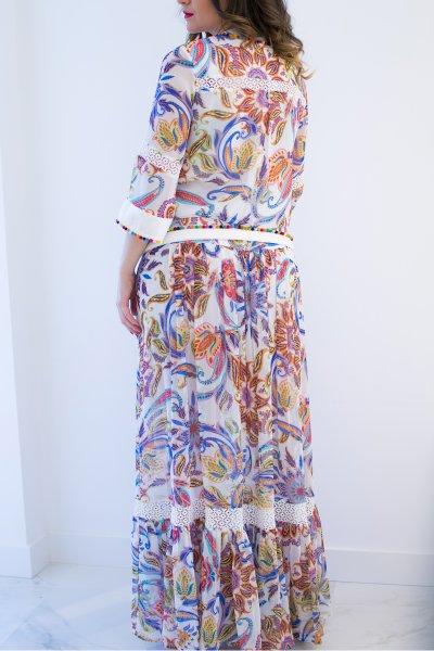 Vestido CONCEPTO PRIVEE Largo Estampado 26.105-45-01