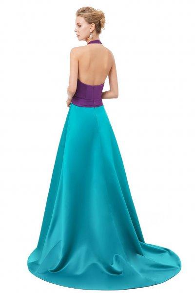 Vestido X&M Largo Bicolor 8079