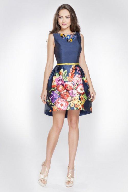 Vestido X&M Floral Collar 49087