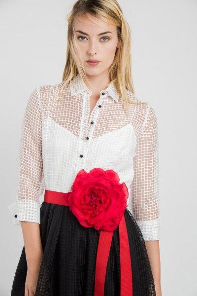 Vestido ALBA CONDE FIESTA Bicolor Rejilla 3423