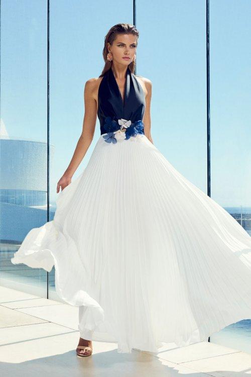 Vestido CARLA RUIZ Largo Plisado 95696