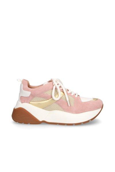 Sneakers TWINSET Dorada y Rosa 191tcp152