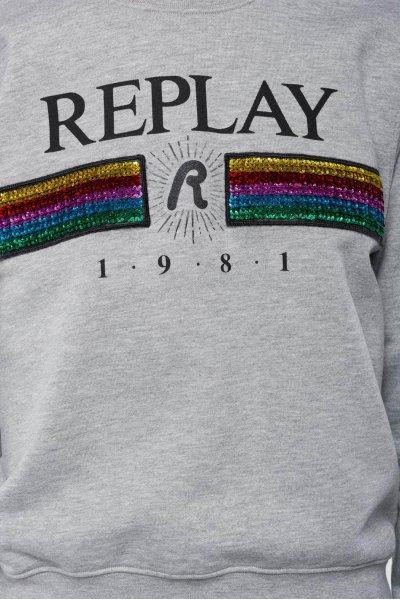 Felpa REPLAY Logo Arcoíris Paillettes W3971F