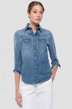 Camisa REPLAY Denim Hyperflex Doble Bolsillo W2962