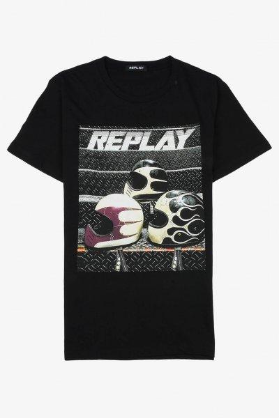 Camiseta REPLAY Estampado Biker M3730 .000.2660