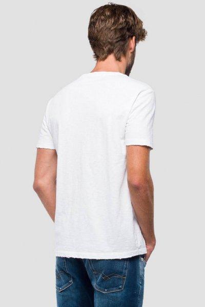 Camiseta REPLAY Logo Estrellas Blanca M3740 .000.22336