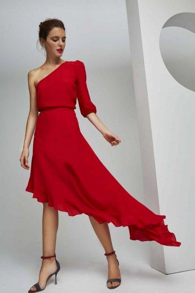 Falda DOLORES PROMESAS Textura Asimétrica 107773