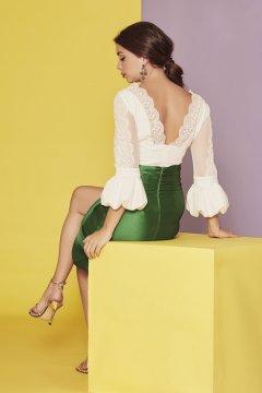 Conjunto SARA RUIZ Romántico Falda Esmeralda 28012F 28012T