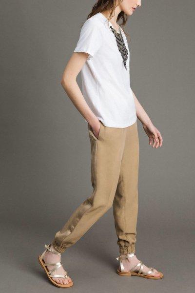 Camiseta TWINSET Blanca Collar 191TT2204