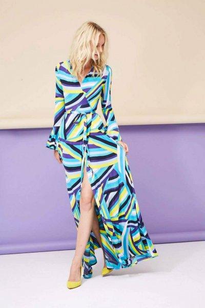 Vestido DOLORES PROMESAS HEAVEN Envolvente Multicolor 107919