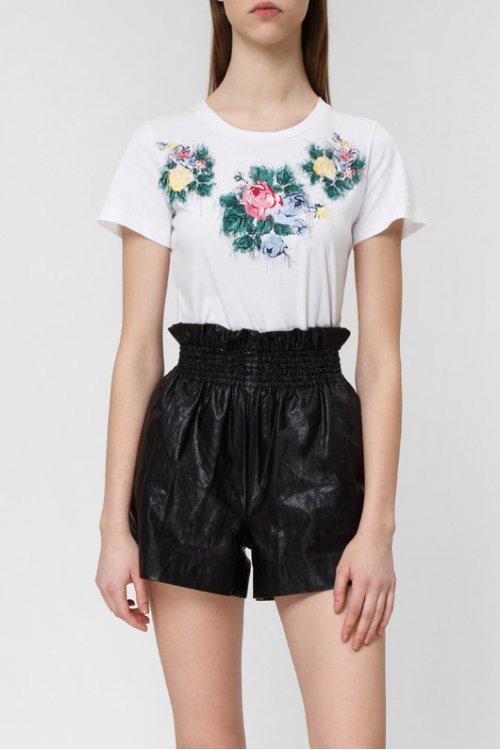 Camiseta TWINSET Bordado Floral 191mp2068