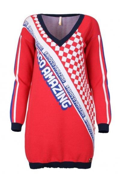 Vestido SAHOCO Tricot Escote Pico SH1901702L