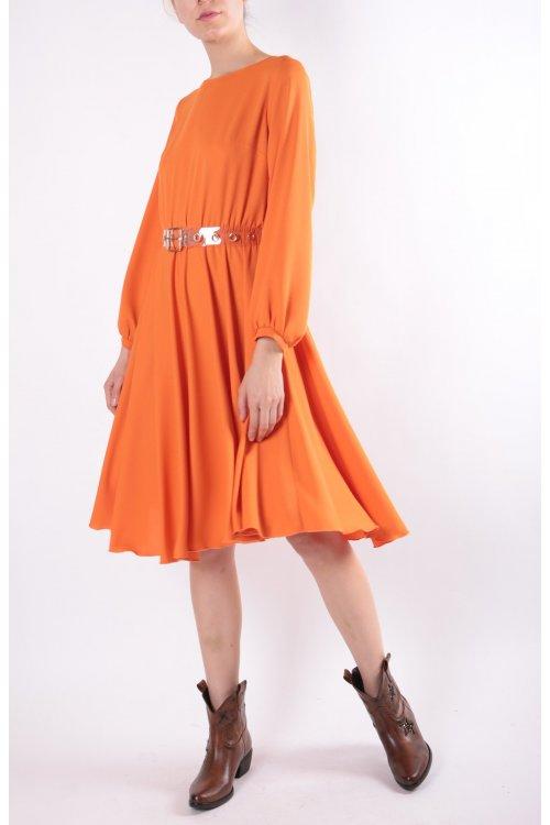 Vestido RINASCIMENTO Naranja Cinturón CFC0091612003