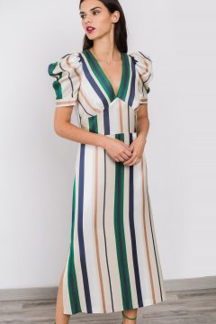 Vestido ALBA CONDE Midi Rayas 1417-105-81