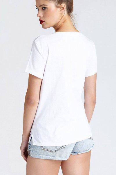 Camiseta GUESS Hoja Bordada W92I58K8FV0