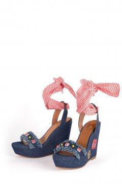 1f78771c9 Cuña CAMBILI Selena Jeans Vichy Cuña CAMBILI Selena Jeans Vichy 2