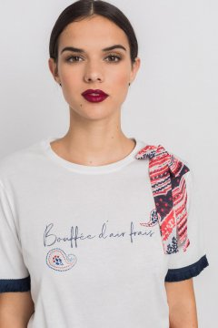 Camiseta ALBA CONDE Cruda Con Lazada 1803-211-11