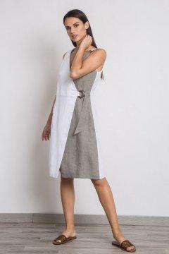 Vestido ALBA CONDE Lino Bicolor 1429-336-83