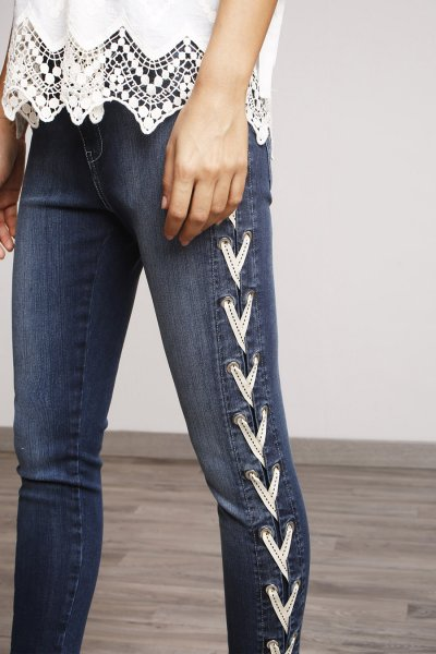 Jeans ALBA CONDE Criss Cross Laterales 2500-406-11