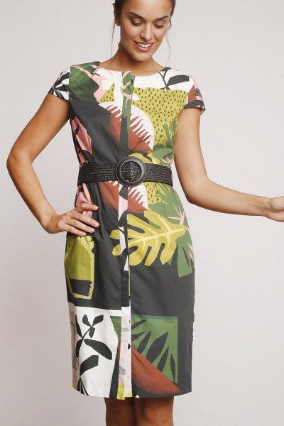 Vestido ALBA CONDE Estampado Tropical 2408-432-22