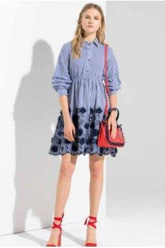 Vestido FRACOMINA Rayas Crochet FR19SP353