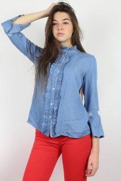 Blusa FRACOMINA Vaquera Flores FR19SP418