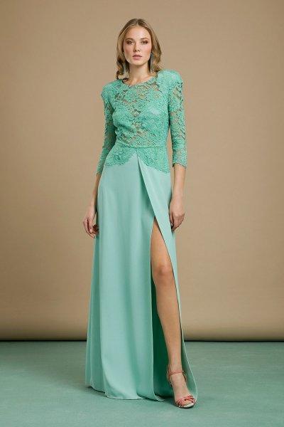 Vestido ELISABETTA FRANCHI Largo Cuerpo Encaje AB80992E2
