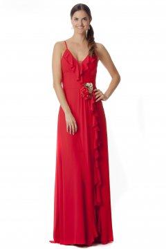 49b7781869 Vestido ALMA   GEMELA Largo Rojo 19039. DISPONIBLE. FIESTA