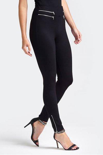 Leggings GUESS Negro Cremalleras W92B54K8G10
