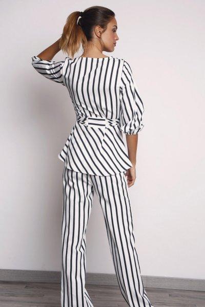 Pantalones ALBA CONDE Fluido Rayas 2507-425-55