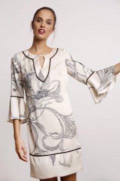 Vestido ALBA CONDE Estampado Bicolor Floral 2414-428-13
