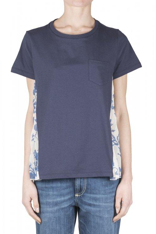 Camiseta SEMICOUTURE Combinada Navy Y9PS06