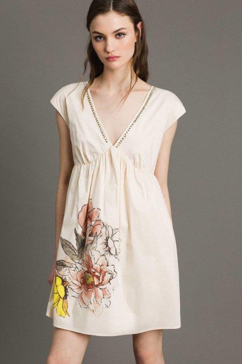 Vestido TWINSET Popelina Estampada 191MT2140