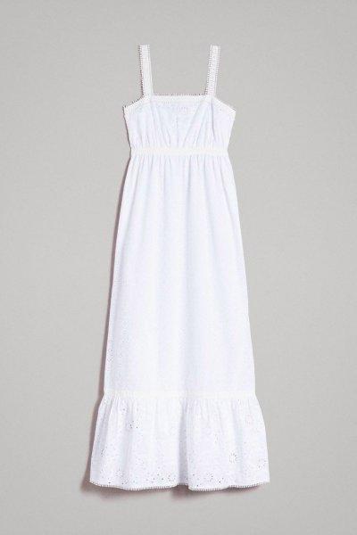 Vestido TWINSET Largo Bordado Inglés 191MT2033