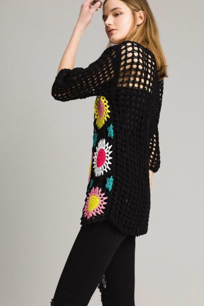 Jersey TWINSET Crochet Lúrex 191MT3051