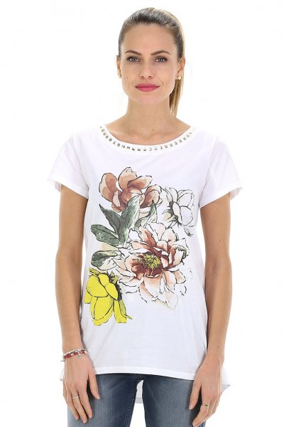 Camiseta TWINSET Estampada Con Tachas 191mt2419