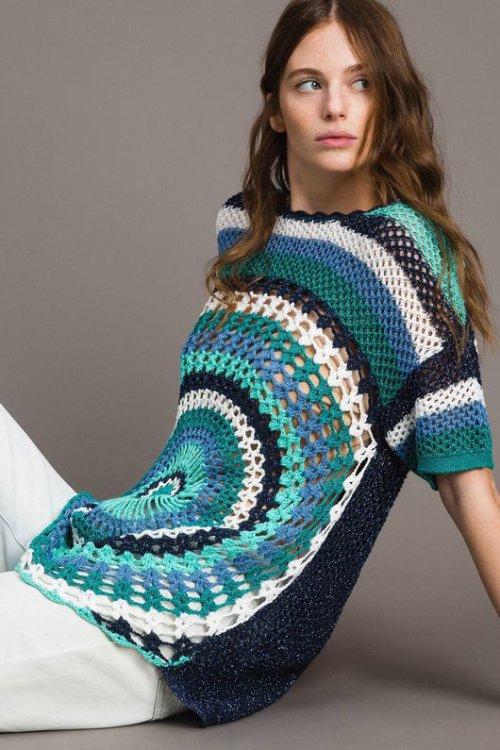 Maxijersey TWINSET Crochet Lúrex 191MT3050