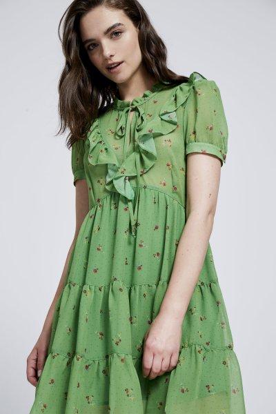 Vestido PATI CONDE Green Print 09-42730.3-1418
