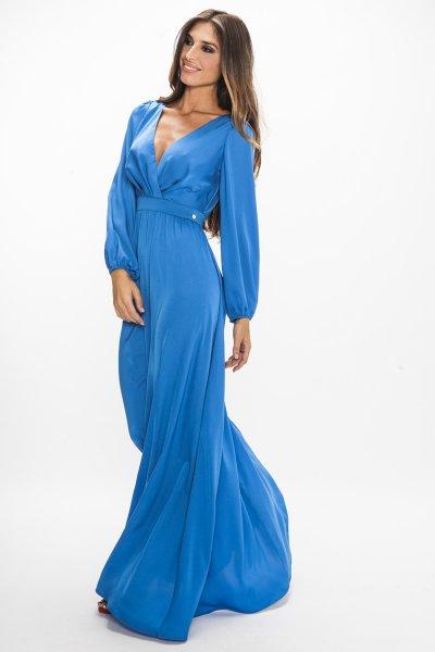 Vestido MASAVI Largo Azul VEAA-16034