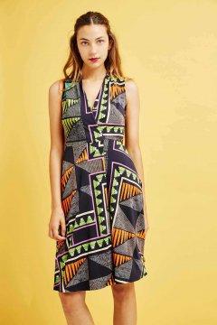 Vestido DOLORES PROMESAS Punto Estampado Étnico 107711