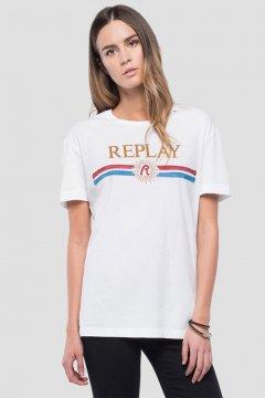 Camiseta REPLAY Logo Blanca W3940H 22536G