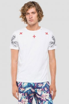 Camiseta REPLAY Estampado Tribal M3745 22336G