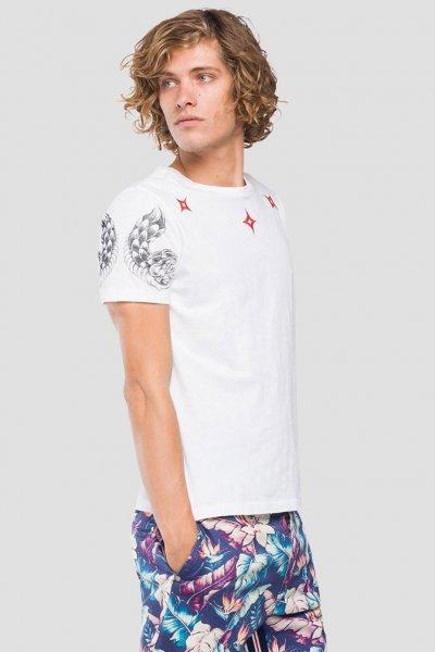 Camiseta REPLAY Estampado Tribal M3745 22336G