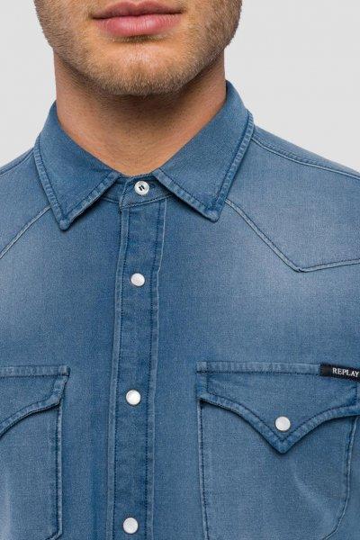 Camisa REPLAY Hyperflex Denim Desgastado M4001 39B 441