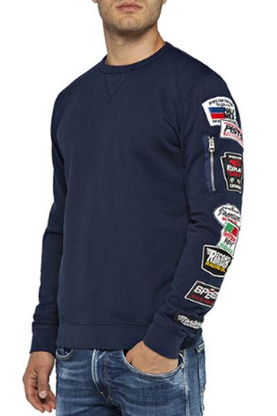 Sudadera REPLAY Parches Manga M3804 22390P