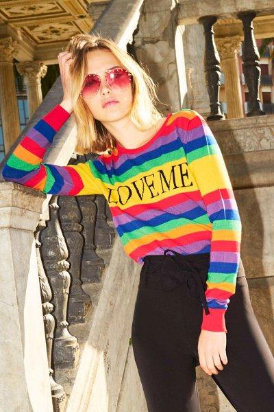 Jersey DENNY ROSE Love Me Multicolor 911DD50017