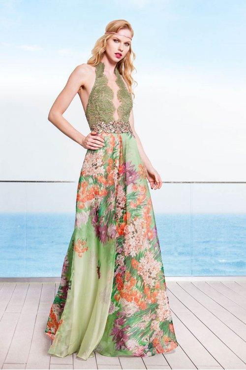 Vestido SONIA PEÑA PASARELA Largo Estampado 1194025