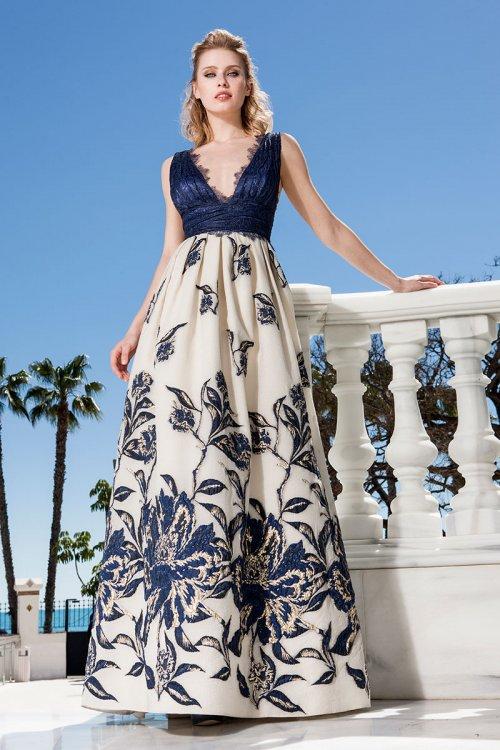 Vestido SONIA PEÑA Largo Falda Jacquard 1190215