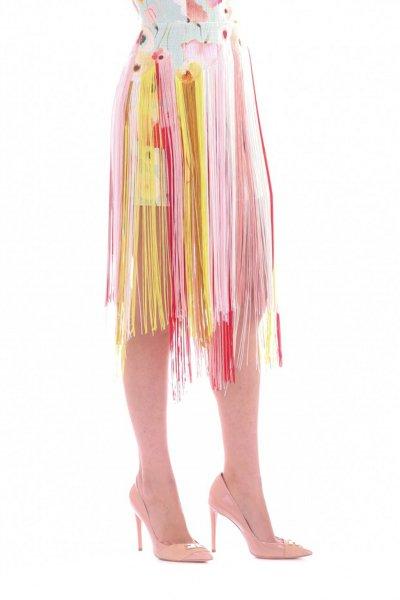 Vestido ELISABETTA FRANCHI Estampado Flecos AB85893E2