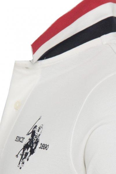 Polo US POLO ASSN Pique Blanco Detalle Cuello 51246-41029
